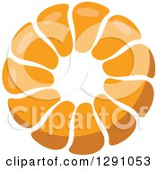 Clipart Of A Pull Apart Croissant Or Monkey Bread Royalty Free Vector Illustration by Vector Tradition SM