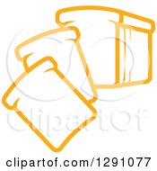 Clipart Of A Sketch Of Slices Of Bread Royalty Free Vector Illustration