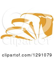 Clipart Of A Loaf And Slices Of Bread Royalty Free Vector Illustration