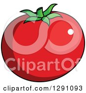 Clipart Of A Cartoon Beefsteak Tomato Royalty Free Vector Illustration by Vector Tradition SM