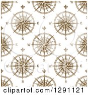 Clipart Of A Seamless Patterned Background Of Compasses 2 Royalty Free Vector Illustration
