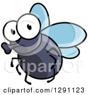 Clipart Of A Cartoon House Fly Royalty Free Vector Illustration