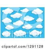 Clipart Of A Blue Sky And Puffy White Clouds 6 Royalty Free Vector Illustration