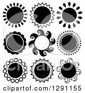 Black And White Sun Designs