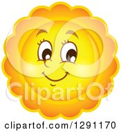 Summer Sun Character With Scalloped Rays