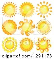 Clipart Of Summer Sun Designs Royalty Free Vector Illustration