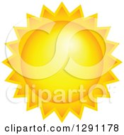 Clipart Of A Hot Summer Sun 2 Royalty Free Vector Illustration
