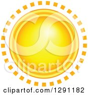 Clipart Of A Summer Sun With Ring Rays Royalty Free Vector Illustration