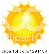 Clipart Of A Hot Summer Sun Royalty Free Vector Illustration