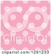 Clipart Of A Seamless Background Pattern Of Pink Polka Dots Royalty Free Vector Illustration
