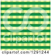 Clipart Of A Seamless Background Pattern Of Green And Yellow Plaid Royalty Free Vector Illustration