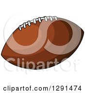 Brown American Football With White Laces