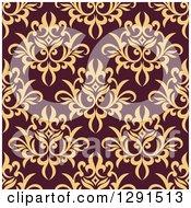 Seamless Pattern Background Of Vintage Floral Damask