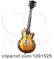 Clipart Of A Shiny Electric Guitar Royalty Free Vector Illustration by Vector Tradition SM