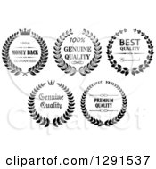 Black And White Wreath Quality Labels 2