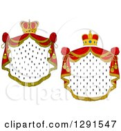 Clipart Of Crowns And Royal Mantles With Red Drapes Royalty Free Vector Illustration