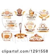 Clipart Of Baked Goods And Bakery Text Designs Royalty Free Vector Illustration by Vector Tradition SM