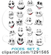 Clipart Of A Faces With Different Expressions And Text 5 Royalty Free Vector Illustration