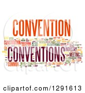 Colorful CONVENTION Tag Word Collage On White