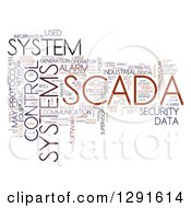 Clipart Of A Brown And Black SCADA Tag Word Collage On White Royalty Free Illustration