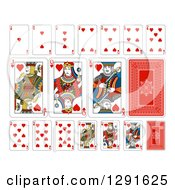 Clipart Of Layout Of A Hearts Playing Card Suit Royalty Free Vector Illustration