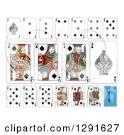 Clipart Of Layout Of A Spades Playing Card Suit Royalty Free Vector Illustration by AtStockIllustration