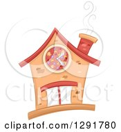Clipart Of A Sketched Pizza Restaurant Building Royalty Free Vector Illustration