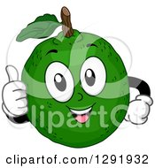 Clipart Of A Cartoon Happy Lime Citrus Fruit Character Giving A Thumb Up Royalty Free Vector Illustration by BNP Design Studio