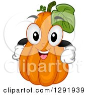 Clipart Of A Cartoon Happy Squash Character Royalty Free Vector Illustration