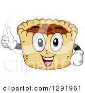 Clipart Of A Cartoon Happy Butter Tart Character Holding A Thumb Up Royalty Free Vector Illustration