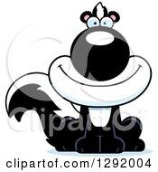 Cartoon Happy Sitting Skunk