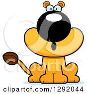 Cartoon Surprised Gasping Lioness Sitting