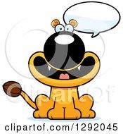 Cartoon Happy Talking Lioness Sitting