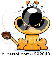 Cartoon Scared Screaming Lioness Sitting