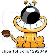 Cartoon Happy Grinning Lioness Sitting