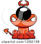 Clipart Of A Cartoon Mad Devil Dog Royalty Free Vector Illustration by Cory Thoman