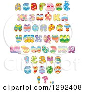Clipart Of Colorful Patterned Easter Themed Alphabet Letters Numbers And Punctuation Royalty Free Vector Illustration