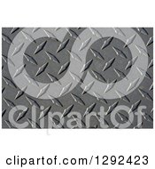 Clipart Of A 3d Diamond Plate Industrial Metal Background Texture Royalty Free Illustration