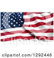 3d Background Of A Rippling American Flag