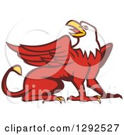 Clipart Of A Retro Cartoon Styled Griffin Royalty Free Vector Illustration by patrimonio