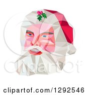 Clipart Of A Geometric Christmas Santa Claus Face Royalty Free Vector Illustration
