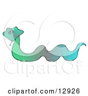 Colorful Green And Blue Snake Clipart Illustration by Dennis Cox