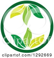 Clipart Of A Circle With Green Leaves Inside Royalty Free Vector Illustration by ColorMagic