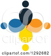Clipart Of A Team Circle Of Abstract People Royalty Free Vector Illustration