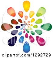 Clipart Of A Spiral Of Colorful Gradient Flower Petals Or Droplets Royalty Free Vector Illustration