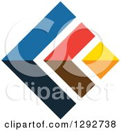 Clipart Of A Flat Design Of Colorful Arrows Royalty Free Vector Illustration by ColorMagic