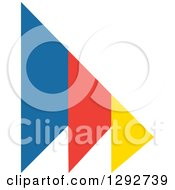 Clipart Of A Trio Of Flat Design Blue Red And Yellow Arrows Royalty Free Vector Illustration by ColorMagic
