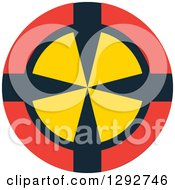 Clipart Of A Red Black And Yellow Target Royalty Free Vector Illustration by ColorMagic