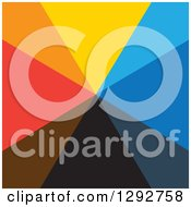 Clipart Of A Square Of A Burst Of Abstract Colorful Triangles Royalty Free Vector Illustration by ColorMagic