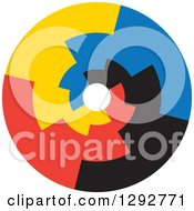 Clipart Of A Flat Design Of A Colorful Infinity Spiral Circle Royalty Free Vector Illustration